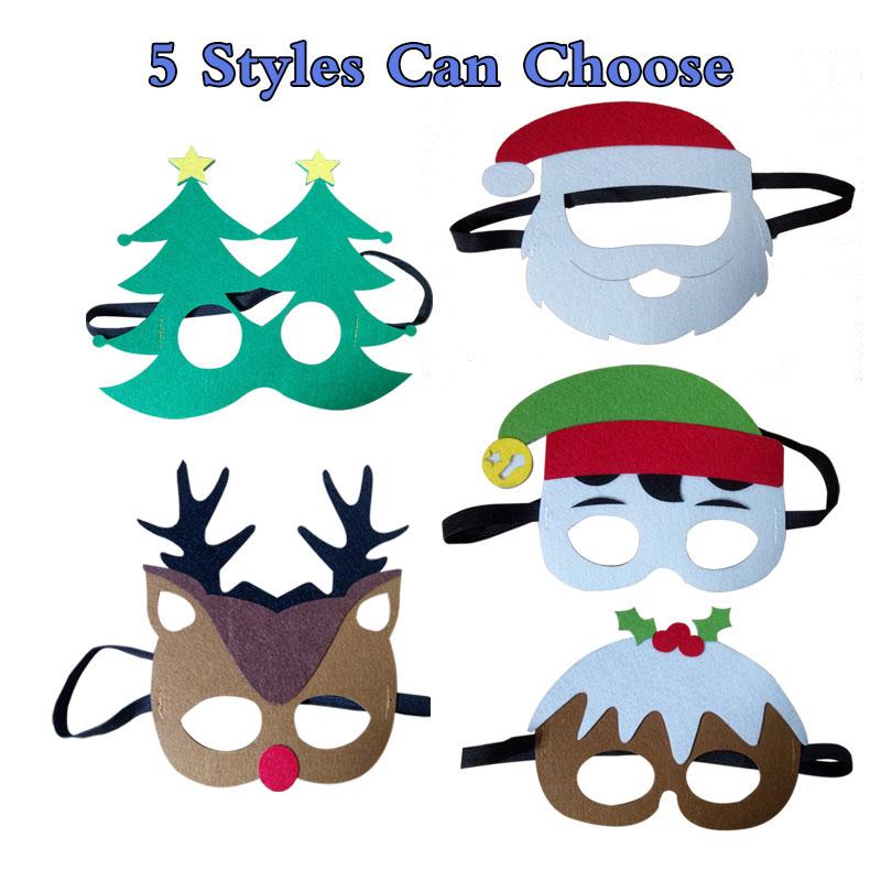 1pc Christmas Theme Masks Santa Claus Christmas Tree Elk Joker Masks ...