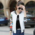 women jacket tops woman Long Sleeve Printed sweatshirt cardigan Zipper Jacket Coat Outwear plus size O-Neck slim fashion