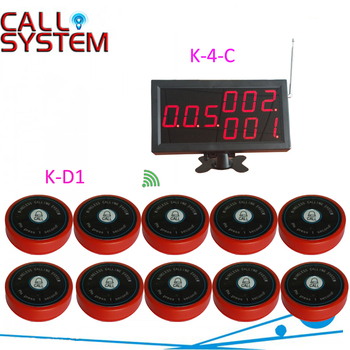 1 display monitor 10 bell buzzer for hotel Bar Wireless paging caller system