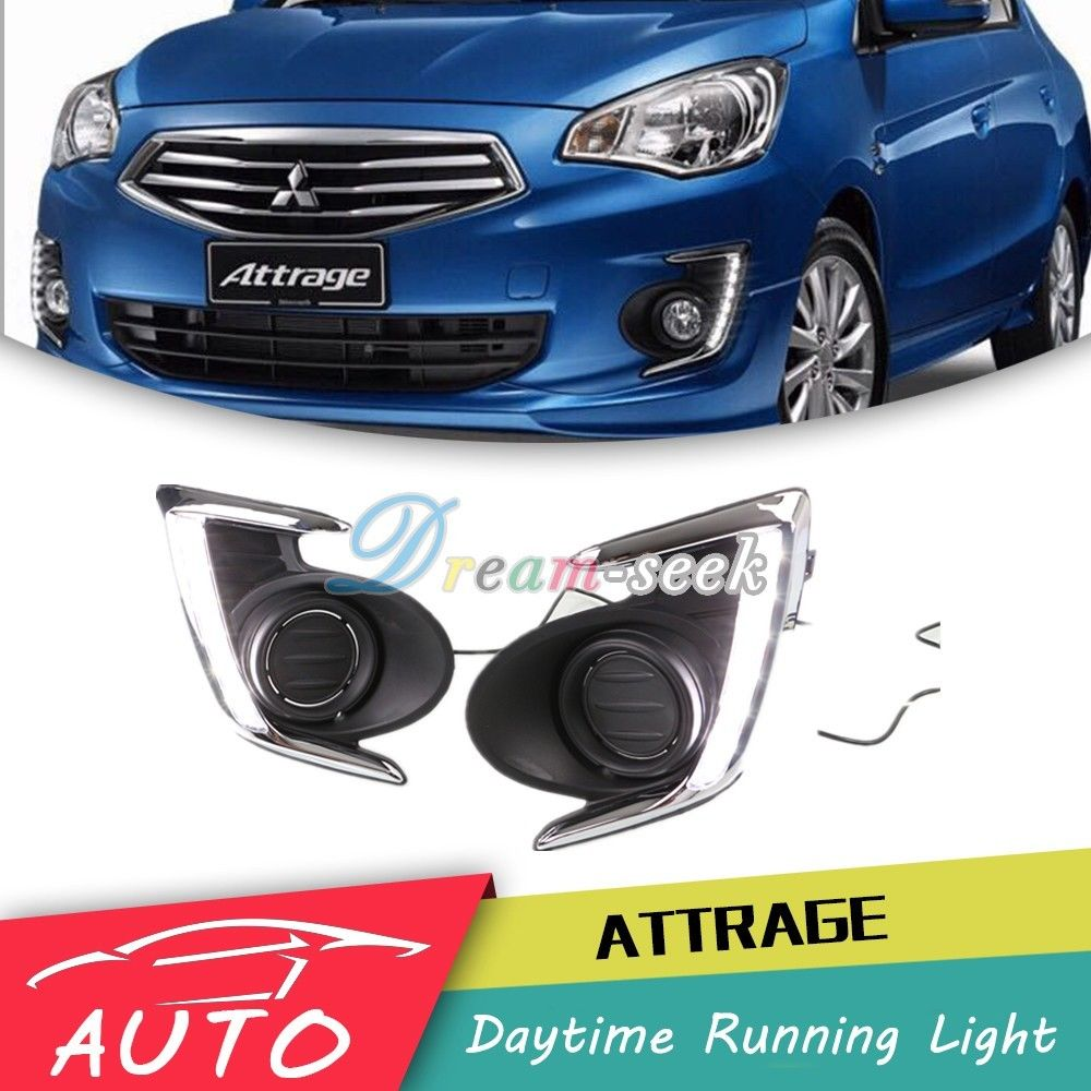 DRL For Mitsubishi Attrage Mirage G4 2012 2013 2014 2015 2016 2017 LED Car Daytime Running Light Driving Fog Day Lamp