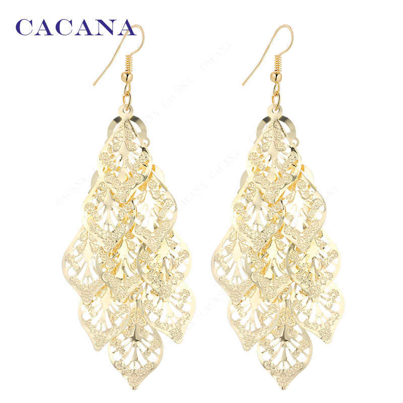 CACANA  Dangle Long Earrings For Women Romantic Tree Leaves Bijouterie Hot Sale No.A750 A751