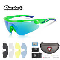 Queshark Professional Men Women HD Polarized Cycling Sunglasses Bicycle Eyewear Ciclismo Glasses Mountain MTB Racing Goggles