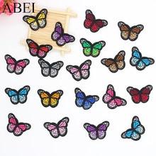 Adesivos para borboleta, adesivos de borboleta para diy, apliques de roupas, emblemas de bgas e casacos 24 pçs/lote mix de 12 cores