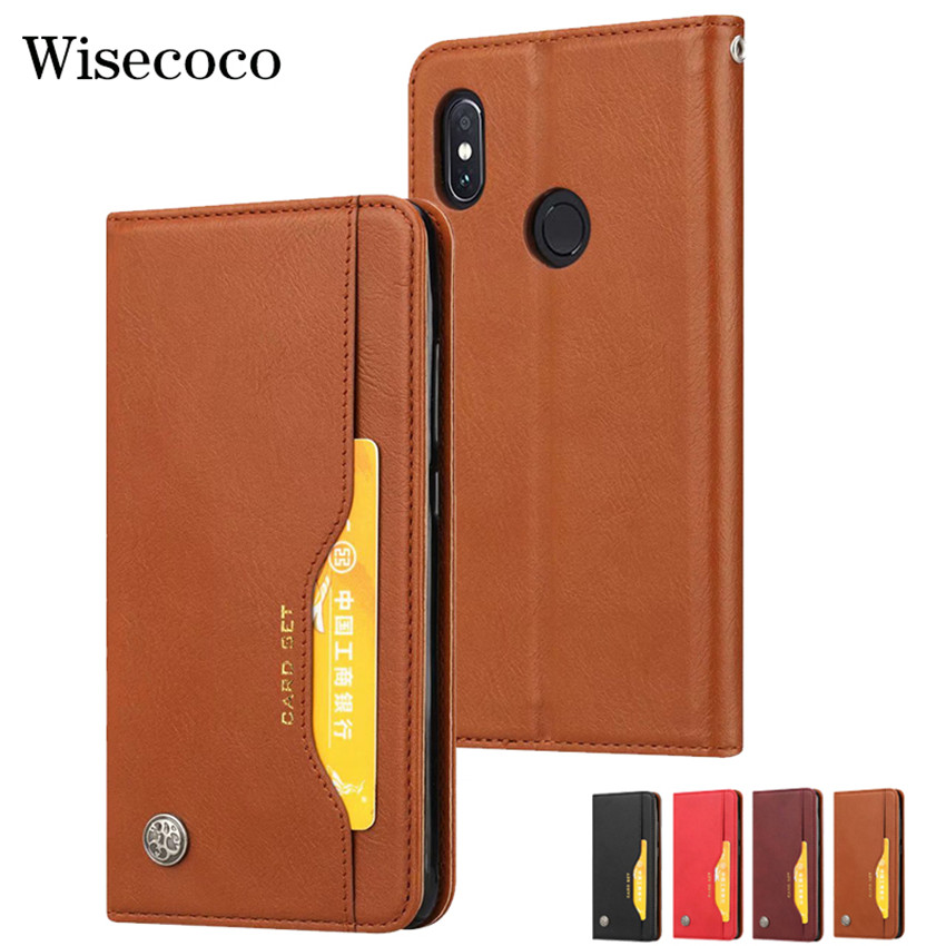 Magnetic Flip Cover For Xiaomi Mi 8 Se 6X A2 Mix 2S max 3 <font><b>f1</b></font> Redmi S2 Y2 Note 5 <font><b>6</b></font> 6A Pro Luxury Wallet Leather Card Holder Case image
