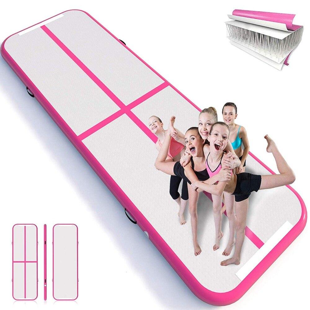 Livraison gratuite 3M4M5M Gonflable Gymnastique AirTrack Tumbling Air Piste Plancher Trampoline pour un Usage Domestique/Formation/Cheerleading/Plage