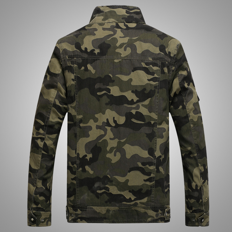 Image 3 - Army Military jacket men camouflage Tactical Camouflage casual fashon bomber Jackets-in Jackets from Men's Clothing