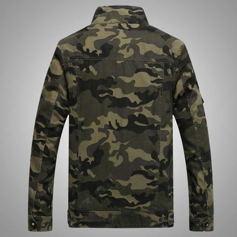 Quân đội Quân áo khoác nam ngụy trang Chiến Thuật Ngụy Trang Giày xăng đan thời Áo Khoác bomber