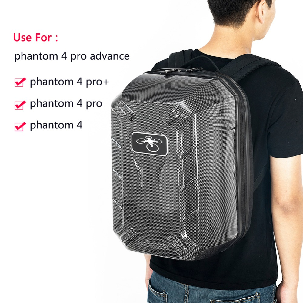 2017 Phantom 3 Phantom 4 Shared Hard Shell Case Waterproof Chockproof Backpack Pressure Bag for DJI Drone Plantom 3/4 Backpack rubberized hard shell case w ribbed design holster