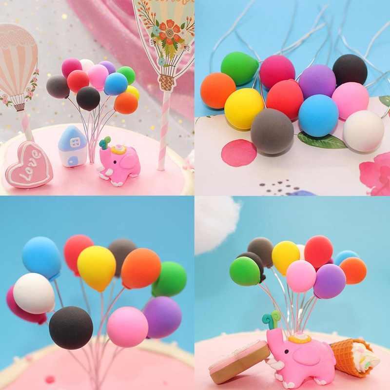 1 Pcs Balon Warna-warni Dekorasi Kue Sayap Malaikat Balon Kue Topper untuk Dekorasi Pesta Makanan Penutup Hadiah Yang Indah