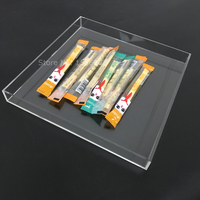 Accept Customized Size Square Hotel Catering Serving Tray Acrylic Candy Storage Tray