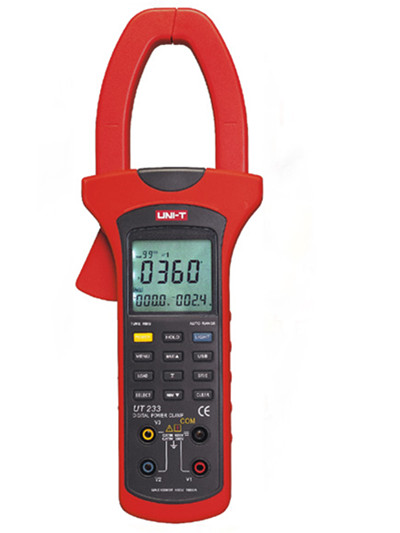 UNI-T UT233 LCD Clamp Digital Multimeter Voltage Ammeter Frequency Tester 3-phase Power Clamp Meter 1000A 600V Power factor uni t ut233 lcd multimetro digital tensao amperimetro tester frequencia 3 phase power clamp meter 1000a 600 v fator