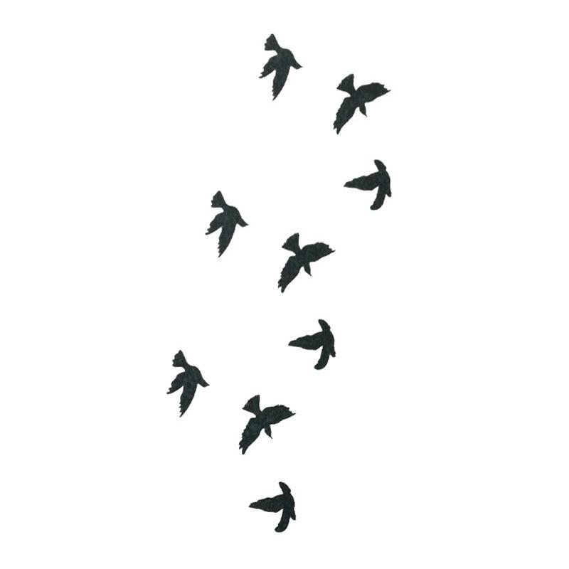 La Golondrina Aves Tatuaje Temporal Pegatinas Arte Corporal