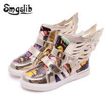Smgslib Children Shoes Butterfly Wings Sneakers High Top Baby Boys Girls Casual Kids School Sport Trainers