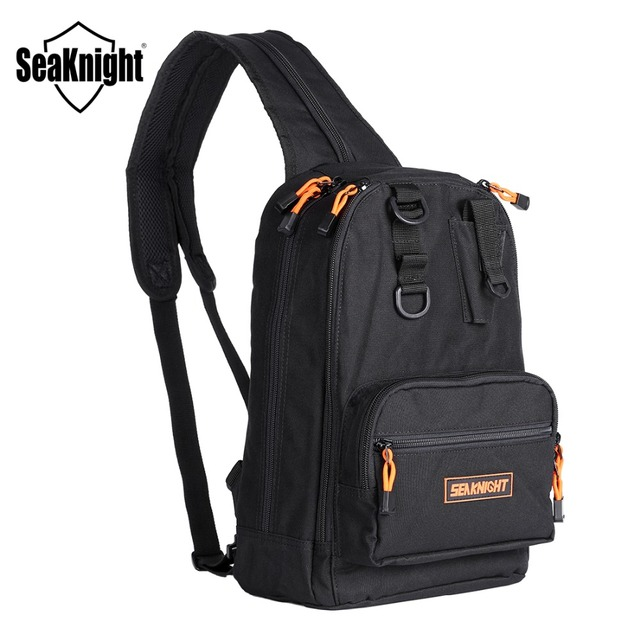 d885a2b4ca44 SeaKnight SK005 Fishing Bag 1000D Nylon Single Double Adjustable Shoulder  Strap Outdoor Breathable Backpack Multifunction Tackle