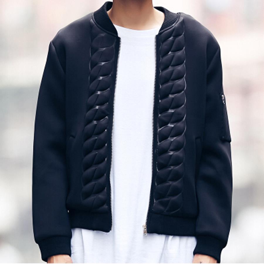 Winter baseball jacket men brand hip hop fashion designer 3d print