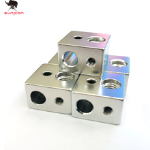 SUNPION 2PCS /LOT 3D Printer accessories MK10 Heater Block heating aluminum block for wanhao MK10 extruder 3D printer parts цены онлайн