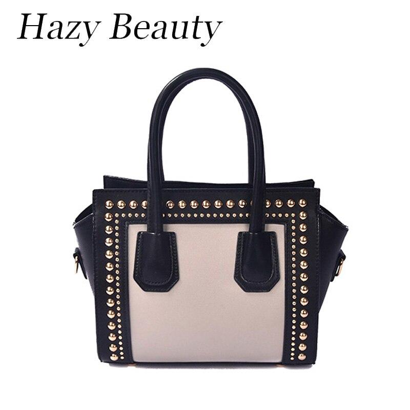 ФОТО Hazy beauty hot design women motorcycle handbag rock stud lady cross body bag super chic and cool girls shoulder bags DH501