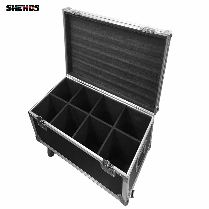 FlightCase with 2/4/6/8 pcs LED Wash and Beam 6x12W+12W RGBW Moving Head Light 4IN1 DJ indoor light Black Body Sound Active Bar