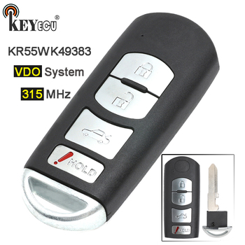 KEYECU 315 MHz FCC: KR55WK49383 VDO Sistemi Yedek 4 Düğme Akıllı Prox Uzaktan Anahtar Fob Mazda 6 2009 2010 2011 2012 2013
