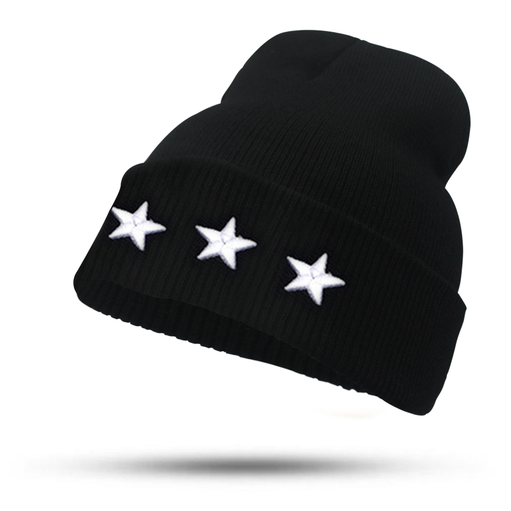 Fine Three-dimensional Five-star Embroidery Hat for Women Girls Men Boys Knitted Hats Female Autumn Winter Beanies Skullies Caps fine three dimensional five star embroidery hat for women girls men boys knitted hats female autumn winter beanies skullies caps