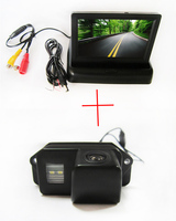 Color CCD Car Rear View Camera for Mitsubishi Lancer Evolution,with 4.3 Inch foldable LCD TFT Monitor