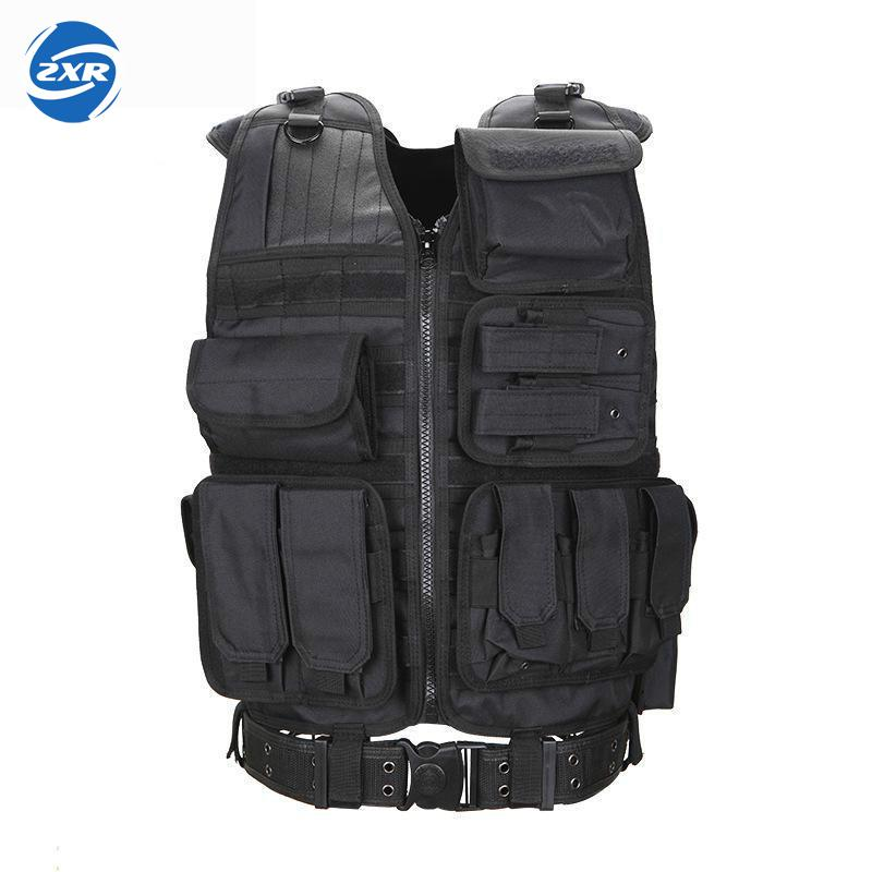 Camo Hunting Vest Men Tactical Vest Molle Military Tactical Paintball Assault Shooting Hunting Clothes Clothing With Holster tactical vest clothing security protective clothing for training clothes