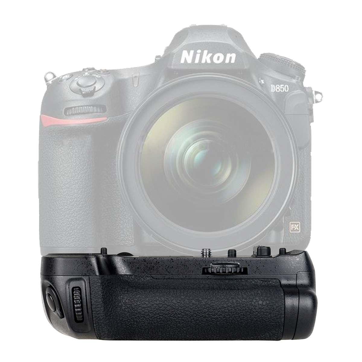 Mcoplus Multi Power Battery Grip MB-D18 Replacement EN-EL15 For Nikon D850 1 X Rechargeable Li-ion Batteries Or 8 X AA Batteries