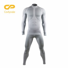 Codysale 2 Pcs Set Men's Suit Long Sleeve Compression Shirt Pants Set Bodybuilding Men Sportswear Workout Clothes for Male Pants