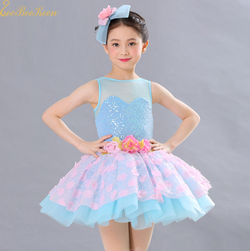 Girls Adult Ballet Tutu Dress Blue Costume Sequin Pink ...
