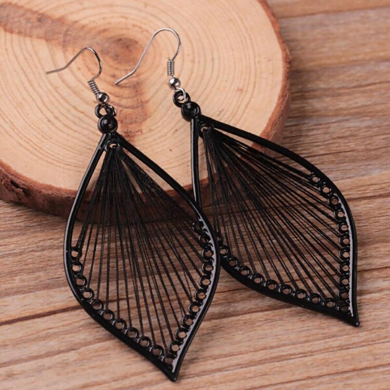 Leaf wing Earrings Boho Hook Drop Dangle Earrings Jewelry Gift in Drop Earrings from Jewelry Accessories