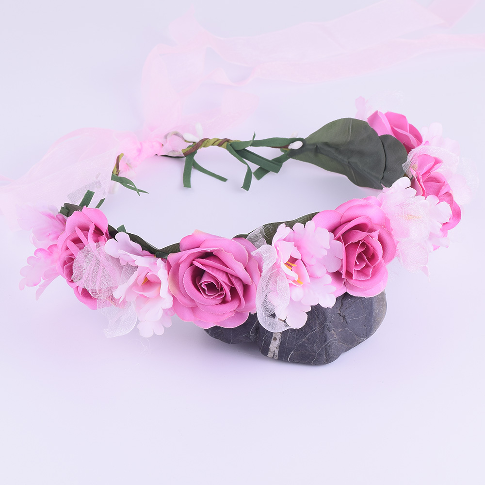 Cxadditions rose flower crown floral headwrap adjustable fleur cxadditions rose flower crown floral headwrap adjustable fleur headband wreath tiaras wedding hair accessories headpiece woman in hair accessories from izmirmasajfo