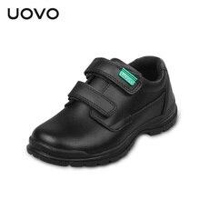 UOVO enfants chaussures 2017 printemps et automne noir véritable chaussures en cuir école étudiants enfants chaussures casual Chaussures pour les garçons