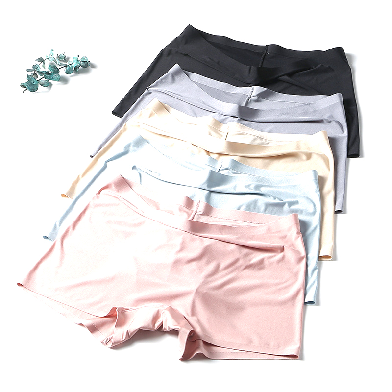 1-8 Pcs New Spring Summer Seamless Women's Shorts Super Breathable Underwear Tight Shorts 8 Color Seamless Panties Safety Pants