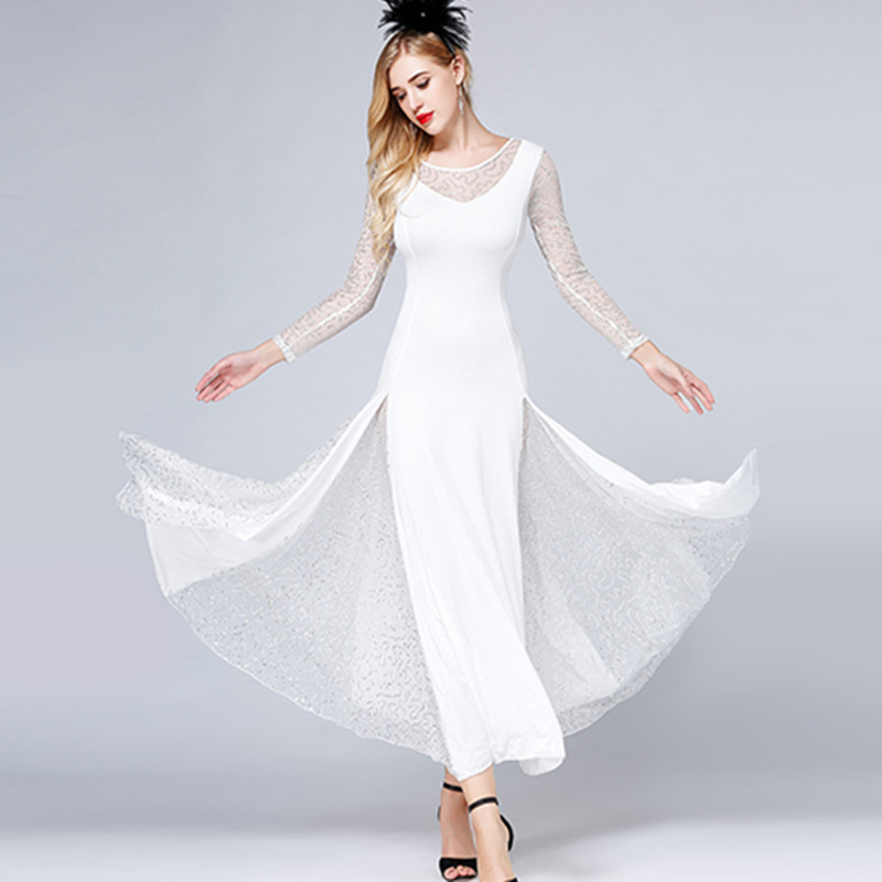 white standard ballroom dresses women dance dress modern dance costumes waltz dresses rumba dance wear flamenco dress foxtrot