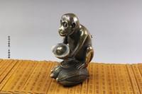 bronze Pure Copper Brass Zodiac monkey ornaments supplies copper antique crafts stall wholesale Zodiac Monkey gold monkey