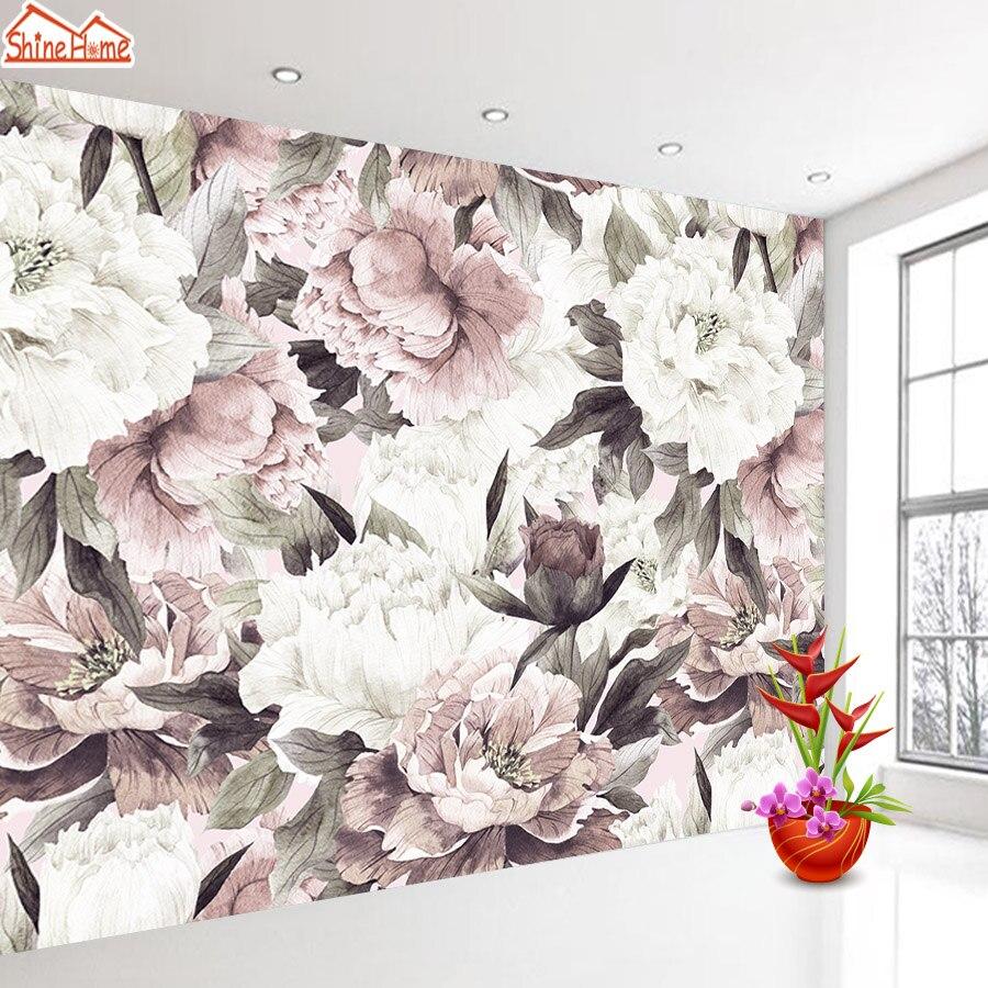 Personalizado papéis de parede para sala de estar 3 d casa decoração papel 3d mural paredes rolos floral rosa