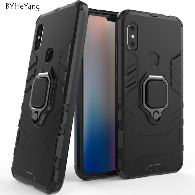 newest 431ef 46442 US $2.68 6% OFF|For Xiaomi Redmi Note 6 Pro Case Redmi Note 6 Case Car  Holder Magnetic Suction Ring Bracket Armor Cover for Xiomi Redmi Note6-in  ...