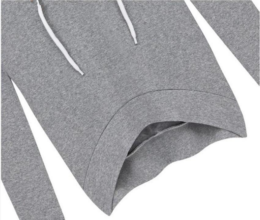 Oufisun Autumn Spring Solid Long Sleeve Hooded Women Two Sets Elegant Causal Elastic Waist Irregular Simple Femme Suit 5