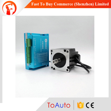 2 phase NEMA34 Leadshine Hybird Servo Motor Drive 86HSM85 E1 HBS86 86mm 1143ozin 8 0NM Close