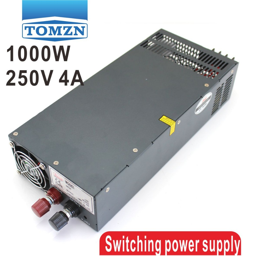 1000W 0 to 250V adjustable 4A Single Output Switching power supply AC to DC 110V or 220V 1000w 55v adjustable 18a single output switching power supply ac to dc 110v or 220v