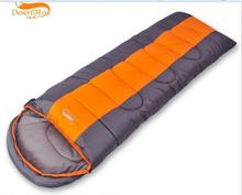 Adult Sleeping Bag Thermal Autumn Winter Envelope Hooded Outdoor Travel Camping Water Resistant Thick Sleeping Bag 1.6kg