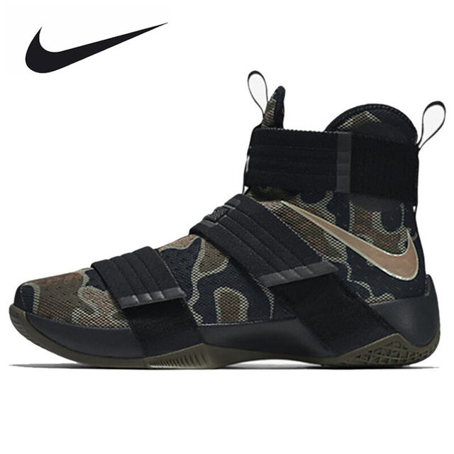 99ecf24d3f7 NIKE Original LEBRON SOLDIER 10 Men s Cool Camouflage Basketball Shoes  Sneakers Trainers