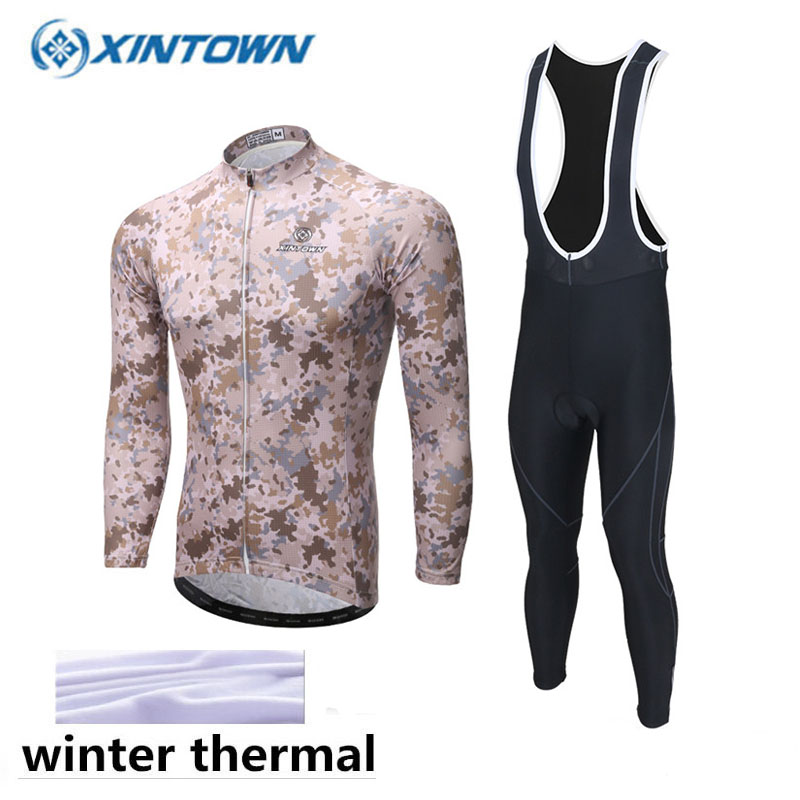 Winter Thermal Fleece Pro Team Cycling Jersey Set Long Sleeve Bicycle Bike Clothing Cycle Bib Pantalones Ropa Ciclismo Invierno 2018 cycling jersey long sleeve pro bike bib pants set ropa ciclismo mens cycle wear bicycle uniformes maillot sportwear