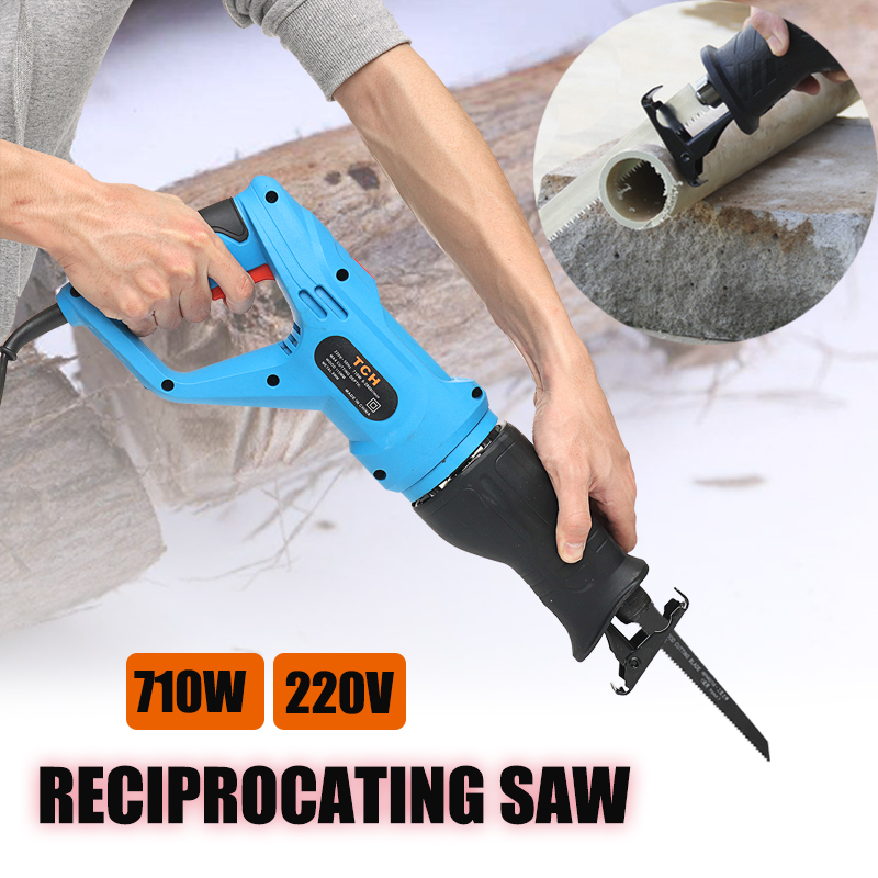 Multifunction Electric Saw Power Tool For Wood Metal Electric Trimmer Woodworking Tools Reciprocating Saw 2 Blades