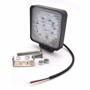 Image 3 - Safego 2X xe 27 W led làm việc ánh sáng đèn 12 V led lái xe đèn 4X4 ATV máy kéo offroad 27 W led worklight đèn sương mù cho xe tải 24 V