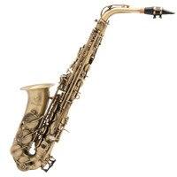 High Quality Antique Ancient Green Bronze Eb Saxophone