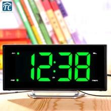 Fashion LED Arc Alarm Clock Desk Radio Electronic Clock Creative Personality Bed Head Night Light Snooze Sleep Clock