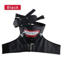 PU Tokyo Ghoul Kaneki Ken Mask Halloween Party Face Black Mask Cartoon Masquerade Masks Decor For