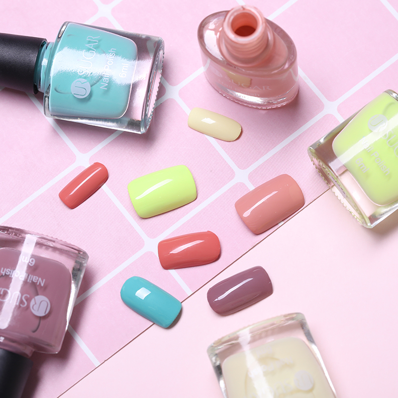 UR SUGAR 6ml Candy Color Series Nail Polish Pink Yellow