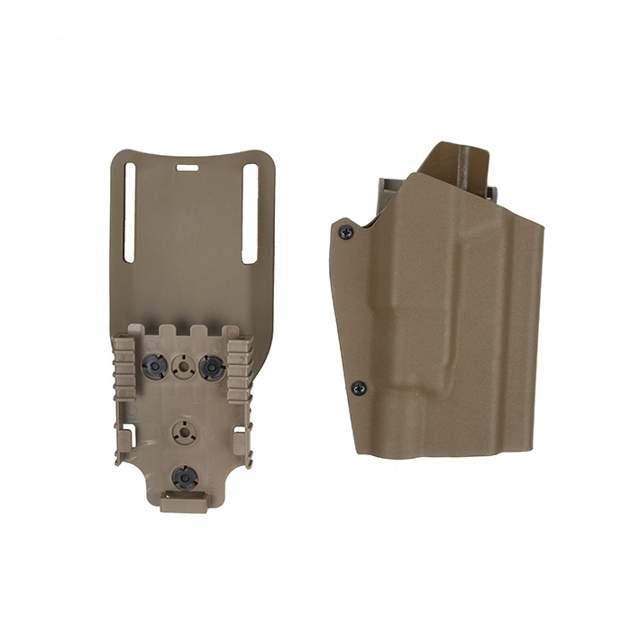 Tactical Kydex X300 Light Bearing Holster Paddle & Belt Loop For GBB Glock BK CB OD Coyote Brown(STG051112)